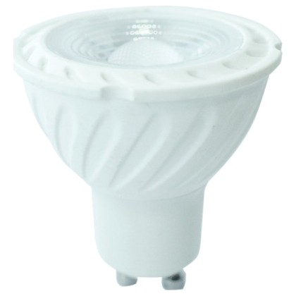 LED VTAC Spot GU10 6.5W SAMSUNG CHIP Plastic 38°  Θερμό Λευκό Di