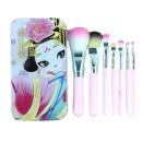 7 Πινέλα Μακιγιάζ Hello Kitty σε Μεταλλικό Κουτί (10773) Pink Qu