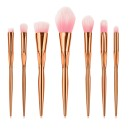 8 Πινέλα Μακιγιάζ με Αντιολισθητική Λαβή  (11133) Χρυσό/Ροζ