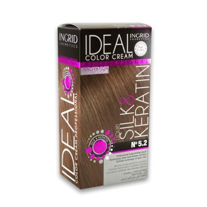 Ingrid Ideal Μόνιμη Κρέμα Βαφή Μαλλιών (10450) No 5.2