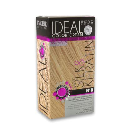 Ingrid Ideal Μόνιμη Κρέμα Βαφή Μαλλιών (10450) No 8