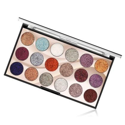 MISS ROSE Παλέτα 18 Χρωμάτων Σκιές Ματιών με Glitter (11214) Μ1