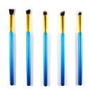 5 Πινέλα Μακιγιάζ Ματιών (11081) Μπλε/Χρυσό