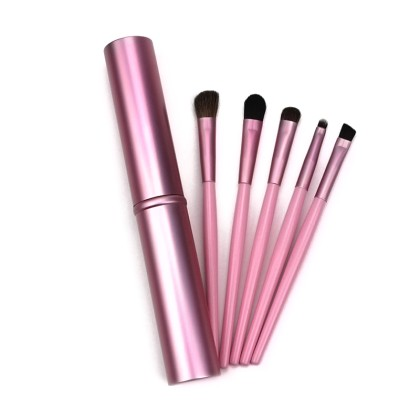 5 Πινέλα Μακιγίαζ με Θήκη Beautyware (10677) Ροζ