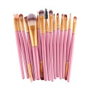 15 Πινέλα Μακιγιάζ σε διάφορα χρώματα MAANGE (10688) Ροζ + Χρυσό