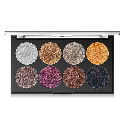 MISS ROSE Παλέτα 8 Χρωμάτων Σκιές Ματιών με Glitter (11203) Μ1