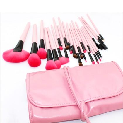 24 Επαγγελματικά Πινέλα Μακιγιάζ Beautyware από Φυσική Τρίχα (10