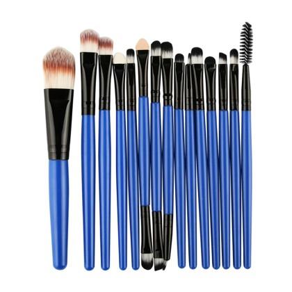 15 Πινέλα Μακιγιάζ σε διάφορα χρώματα MAANGE (10688) Μπλε + Μαύρ