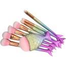 8 Πινέλα Μακιγιάζ με Πολυχρηστικό Πινέλο (11129) Ροζ/Κίτρινο