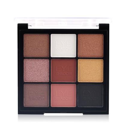 MISS ROSE Μίνι Παλέτα 9 Χρωμάτων Περλέ Σκιές Ματιών (11206) #1