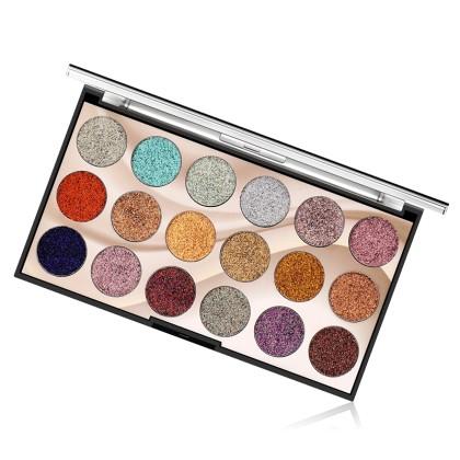 MISS ROSE Παλέτα 18 Χρωμάτων Σκιές Ματιών με Glitter (11214) Μ2