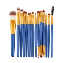 15 Πινέλα Μακιγιάζ σε διάφορα χρώματα MAANGE (10688) Μπλε + Χρυσ
