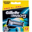 Gillette Mach3 Replacement blade 12pc