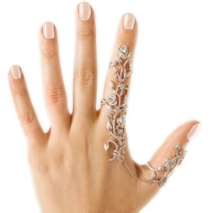 Δαχτυλίδι - One-Piece Personality Rose Rhinestones Diamond Studd
