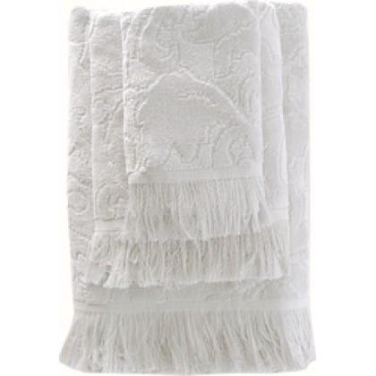 Πετσέτα χεριών (30Χ50) SIENNA WHITE, RYTHMOS HOME
