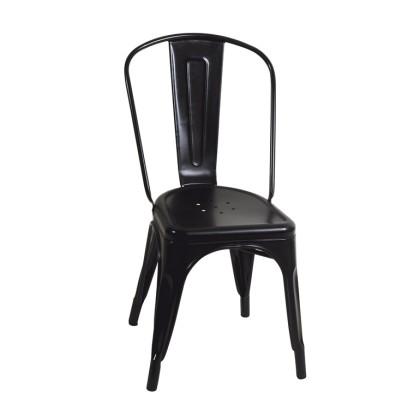 Καρέκλα κήπου μεταλλική (85X45X54) SM-1027C BLACK, LIANOS