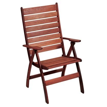 Πολυθρόνα ξύλινη ψηλής πλάτης (110Χ60Χ63) C4036BM-R, LIANOS