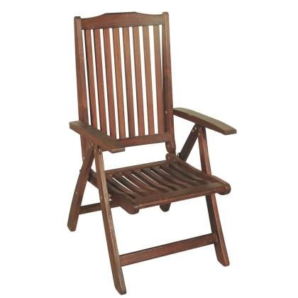 Πολυθρόνα ξύλινη ψηλής πλάτης (109Χ61Χ60) R-KC-04, LIANOS