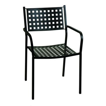Πολυθρόνα κήπου μεταλλική (84Χ54Χ51) 165449, LIANOS