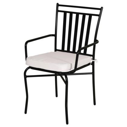 Πολυθρόνα κήπου μεταλλική με μαξιλάρι  (90Χ57Χ59) TC037, LIANOS