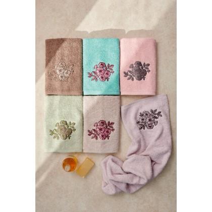 Σετ πετσέτες 3 τεμ. FLORENZA ROSE, PALAMAIKI