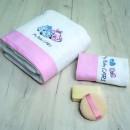 Σετ πετσέτες βρεφικές 2 τεμ. MY BABY CAR PINK, SB HOME