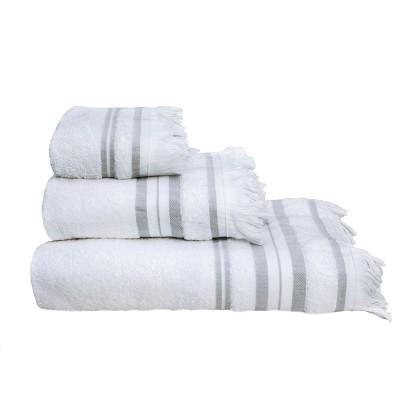 Σετ πετσέτες 3 τεμ. YOGA WHITE, MELINEN
