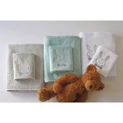 Σετ βρεφικές πετσέτες 2 τεμ. BUNNY AQUA, MELINEN