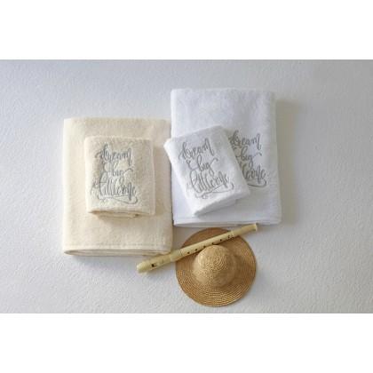 Σετ βρεφικές πετσέτες 2 τεμ. DREAMER WHITE, MELINEN