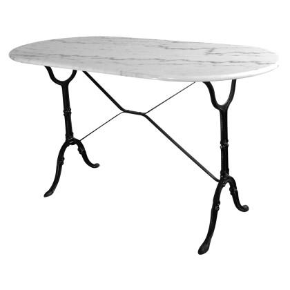 Τραπέζι κήπου μεταλλικό με μάρμαρο (60Χ72) 203434, LIANOS