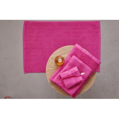 Σετ πετσέτες 4 τεμ. + πατάκι μπάνιου ROD FUCHSIA, PALAMAIKI