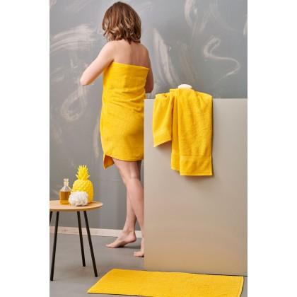 Σετ πετσέτες 4 τεμ. + πατάκι μπάνιου ROD YELLOW, PALAMAIKI