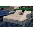 Σετ καναπές-ξαπλώστρα 2 θέσεων (157,5X89) GENIUS GREY, AVANT GAR
