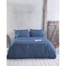 Σετ παπλωματοθήκη ημίιδπλη (160Χ250) TIMOTHY BLUE, RYTHMOS HOME