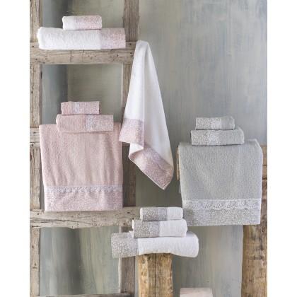 Σετ πετσέτες 3 τεμ. με δαντέλα ALENA GREY, RYTHMOS HOME