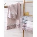 Σετ πετσέτες 3 τεμ. με δαντέλα SELMA WHITE/MINT, RYTHMOS HOME