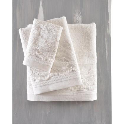 Σετ πετσέτες νυφικές 3 τεμ. ANIKA ECRU, RYTHMOS HOME