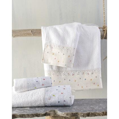 Σετ πετσέτες παιδικές 2 τεμ. CONFETTI ECRU, RYTHMOS HOME