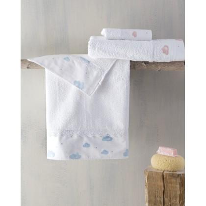 Σετ πετσέτες παιδικές 2 τεμ. CLOUDS PINK, RYTHMOS HOME