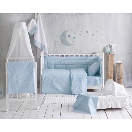 Σετ παπλωματοθήκη bebe (110X160) BRIGHT BABY BLUE, RYTHMOS HOME