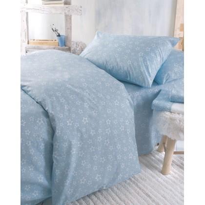 Σετ παπλωματοθήκη παιδική (160X250) BRIGHT BLUE, RYTHMOS HOME