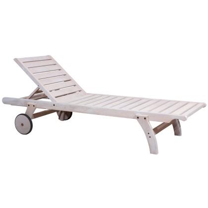 Ξαπλώστρα ξύλινη (198X66X36) ILLY WHITE, AVANT GARDE