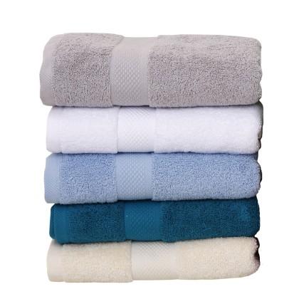 Πετσέτα μπάνιου LUXOR WHITE (70X140), VIOPROS