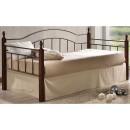 E-04037 VINCENT Καναπές κρεβάτι μονό (90x190) Μαύρο/Ξύλο Καρυδί