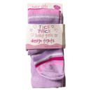 Παιδικό καλσόν για κορίτσια Tick Ριγέ Μωβ