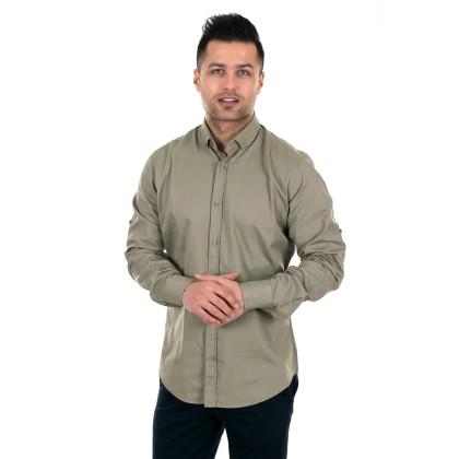 Zen Zen  Χακί ανδρικό πουκάμισο