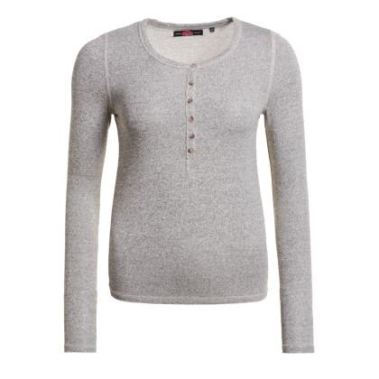 Superdry Slim Fit Knit Grandad light grey γυναικεία μακρυμάνικη