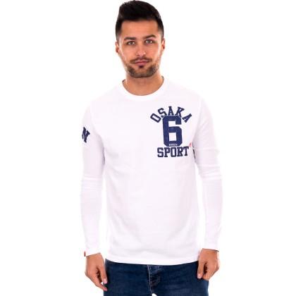 Superdry   λευκή ανδρική μπλούζα
