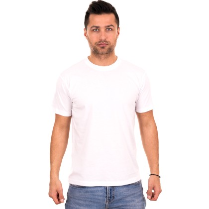 Λευκό ανδρικό T-shirt