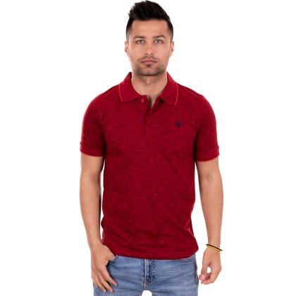 Franco Nero Κόκκινο σκούρο ανδρικό polo μπλουζάκι